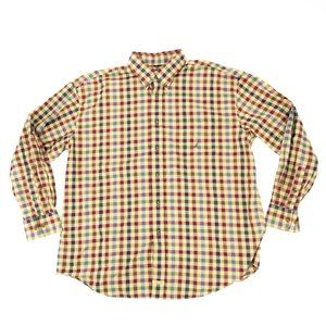 Nautica Men's Button Shirt Plaid Twill Brown XXL